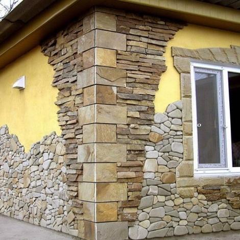 Услуги по облицовке камнем фасадов зданий