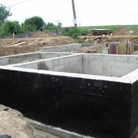 Услуги по строительству фундамента с подвалом